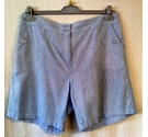 Per Una Ladies Cotton/Flax Shorts Light Blue Size: 36""