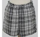 Zara Checked Shorts Black & White Size: L