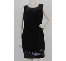 POP By PPQ Sequin Trim Smart Dress Black Size: 12
