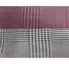 Black, Redcurrant, White, Magenta Prince of Wales Check Fabric 146 x 255 cm