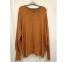 M&S Collection long sleeved boatneck jumper, Tan Size: 24