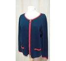 Viyella Knit Wear Zipped Cardigan Navy Size: L