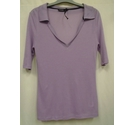 M&S Autograph Sports Top with Collar, Mauve Size: 8