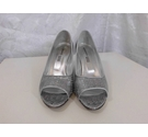Sabrina Chic Wedge dress shoes Silver Size: 7