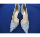 Big Tree Silver sparkly court shoes wit Silver Size: 7.5
