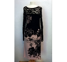 Phase Eight Floral & Lace Dress Black & Pink Size: 12