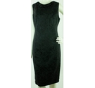 BNWT W at BHS Sleeveless Beaded Collar Dress Black Lace Look Size: 12