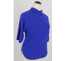 Ted Baker Polo Neck Cashmere Top Purple Size: 10