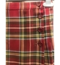 Unbranded- Tartan Skirt- Red- Size: 7 - 8 Years