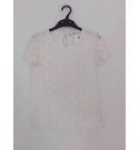 NWOT Marks & Spencer Lace Front Top Cream Size: 12 - 13 Years