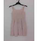Marks & Spencer Pineaple Jaquard Strappy Dress Pale Pink Size: 10 - 11 Years