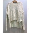 Nasty Gal Knit Jumper- Cream- Size: M