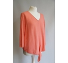 White Stuff V-necked jumper peach Size: 10