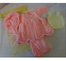 Beautiful hand knitted dolls clothes - Pink
