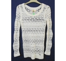 Hollister lacy knitted top cream Size: XS