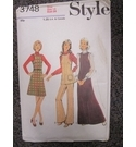 "Style Pattern Miss Size 12 (Vintage) Bust 34"" With Material Cotton Zip"