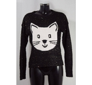 Love 2 Laugh Cat Sparkley Jumper Multi Size: 12