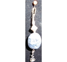 Nice Silver Pendant with Blue Polished Stone