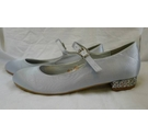 Essex Glam Satin Dance Shoes Silver Size: 6