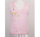 Storybook Knit Applique detail vest Pink Size: M