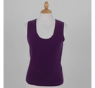 Pure Collection Cashmere Vest Purple Size: S