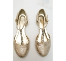 Monsoon Wedge beaded shoe Gold Size: 4