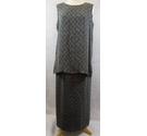 Hobbs Marilyn Anselm skirt and top grey on black Size: 14