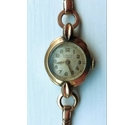 Vintage Laco small ladies mechanical(wind-up) wristwatch in 40 Micron rolled gold. In working order.