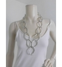 NWOT Silver Chunky Necklace