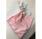 M & Co Pink Bunny Baby Teething Cloth