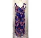New Look Summer Maternity Dress Purple Mix Size: 18