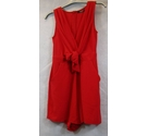 Quiz sleeveless playsuit red Size: 6