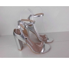 NWOT Lost Ink Strappy Sandals Silver Size: 7