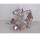 NWOT Glamorous Strappy Sandals Wide Fit Silver Size: 4