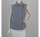 Laura Ashley Merino Waistcoat Pale Grey Size: 14
