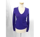 Uniqlo V Neck Sweater Purple Size: S