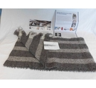 Stansborough BNWT Scarf, Full Provenance! Grey/natural Size: M