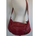 Betty Jackson Black 100% Leather Cross Body Bag Rich Red Wine Size: L