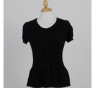 M&S Short Sleeve Peplum Cardigan Black Size: 10