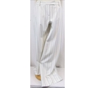 M&S Marks & Spencer Striped Suit Trousers White Size: 12