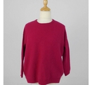 M&S Collection Ribbed Cashmere Jumper Magenta Pink Size: S