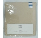 One Pair Marks & Spencer Home Lined Banbury Weave Eyelet Ready-Made Curtains in Standard Width