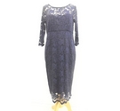 Seraphine Maternity Evening Dress Blue Size: 10