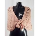 Per Una Knitted Front-Tied Shawl Pink Size: One size: regular