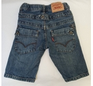 Levis childrens denim shorts, unisex blue stonewash Size: 3 - 4 Years