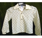Prova 1960 - 70's kids shirt cream Size: Age 5