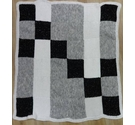 Handmade patchwork knitted blacket