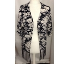 superdry floral kimono black and white Size: S