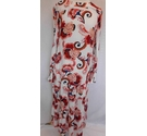 BNWT M&S Collection Floral Long Sleeved Tiered Maxi Dress Red Orange Size: S