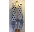 Soamas monochrome patterned scarf